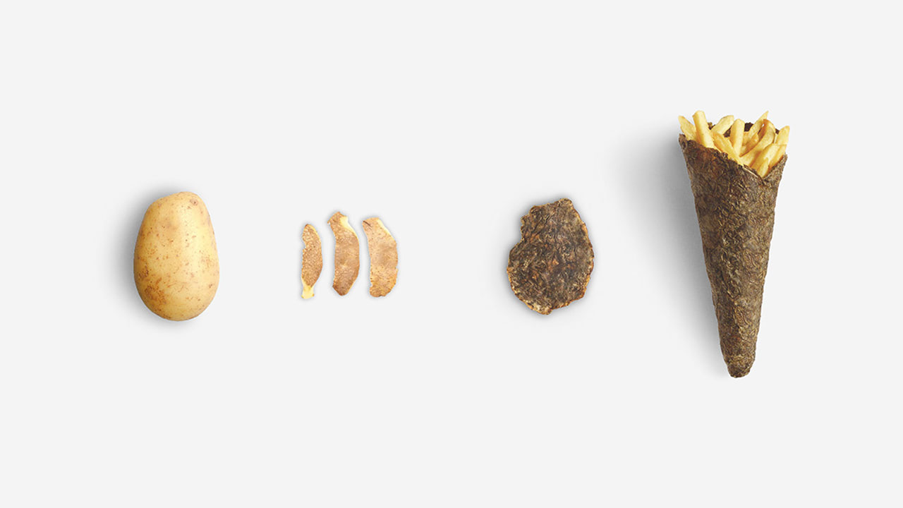 упаковка изкартофельной кожуры